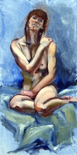 Figure in Blue